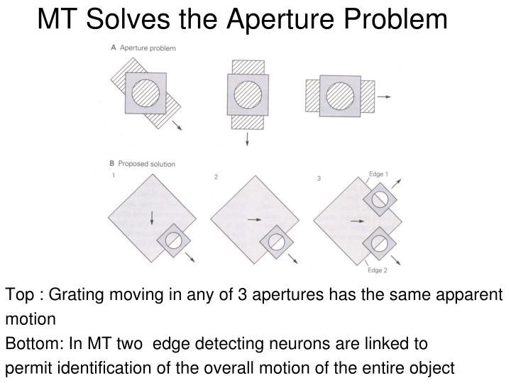 MT Solves the Aperture Problem