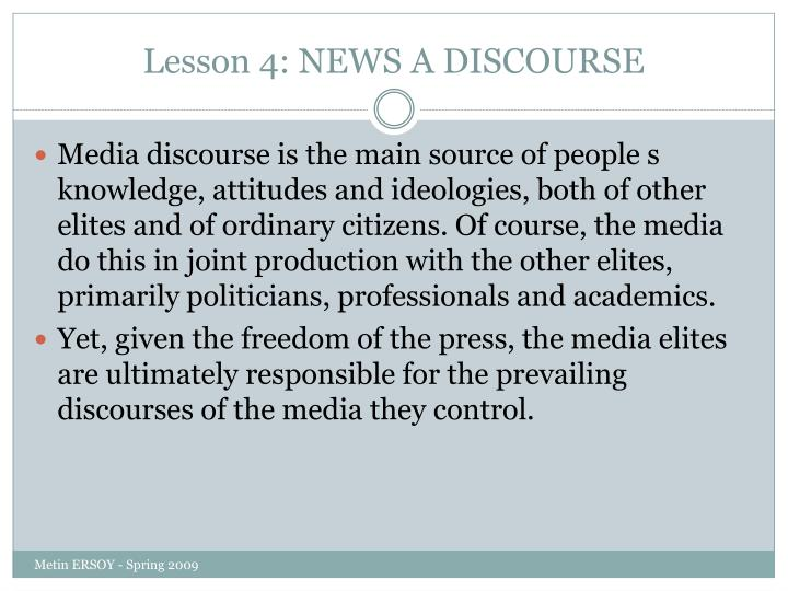 Lesson 4 news a discourse1