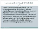 lesson 4 news a discourse17