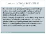 lesson 4 news a discourse18