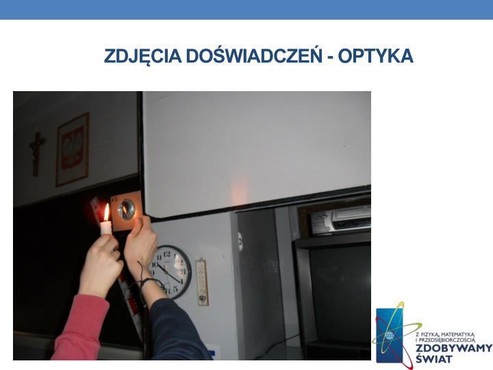 Zdjęcia doświadczeń - optyka