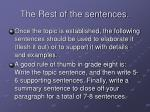 the rest of the sentences