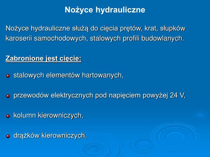 Nożyce hydrauliczne
