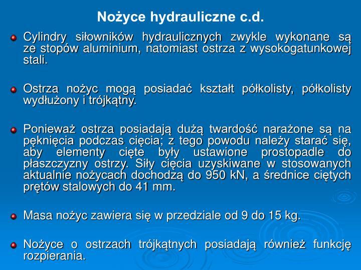 Nożyce hydrauliczne c.d.