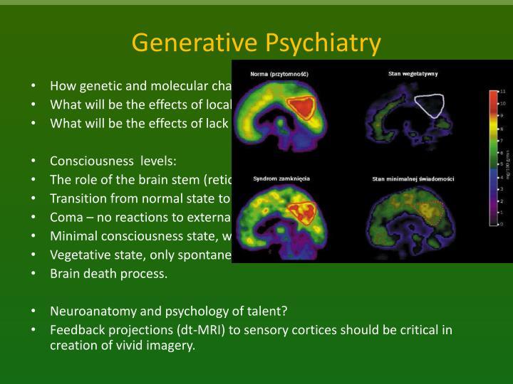 Generative Psychiatry
