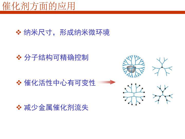 催化剂方面的应用