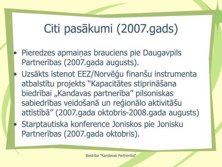 Citi pasākumi (2007.gads)