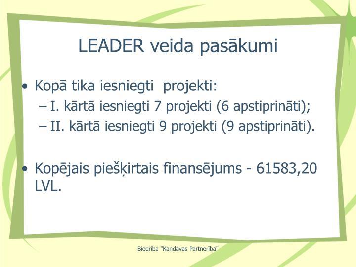 LEADER veida pasākumi