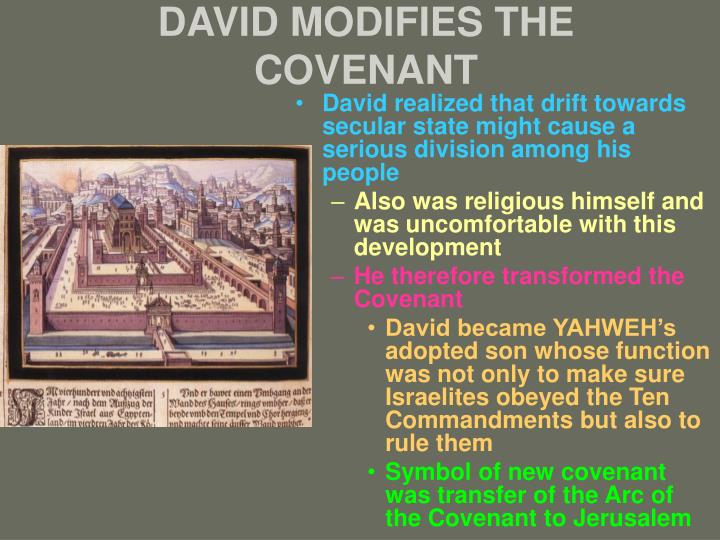DAVID MODIFIES THE COVENANT