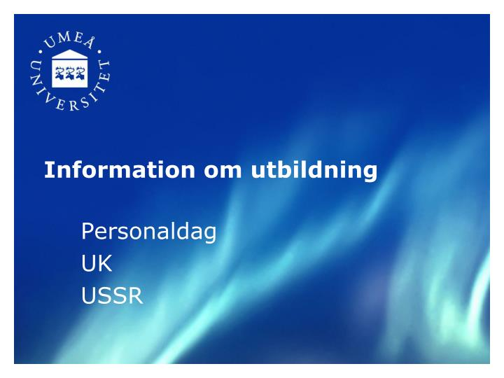 Information om utbildning