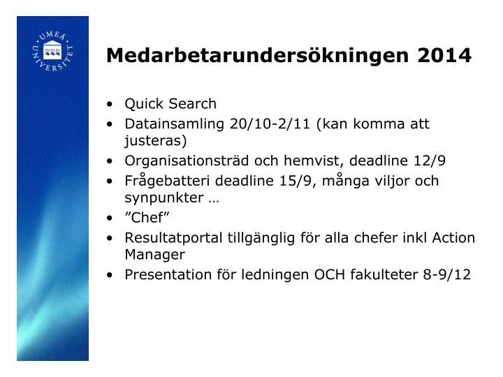 Medarbetarundersökningen 2014