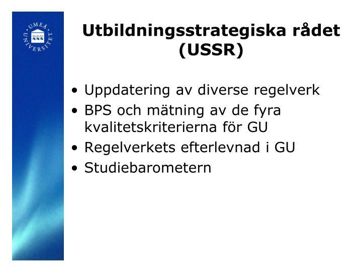 Utbildningsstrategiska rådet (USSR)