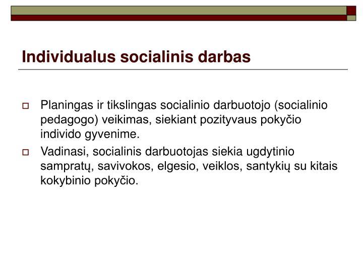 Individualus socialinis darbas