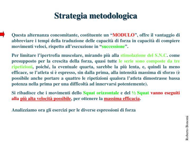 Strategia metodologica