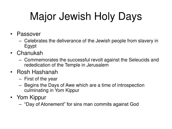 christian and jewish holy days essay What does the bible teach about such holy days as christmas, easter, and lent this reference in the kjv does not refer to a christian holy day but to the jewish.