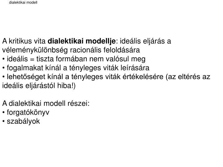 dialektikai modell