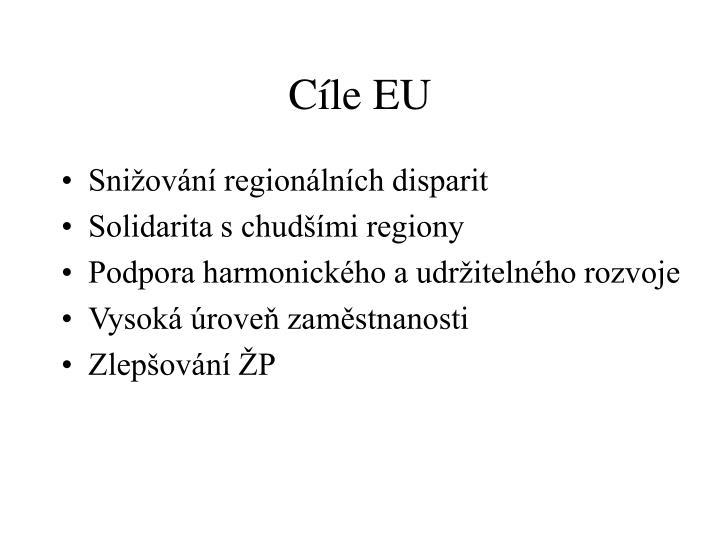Cíle EU