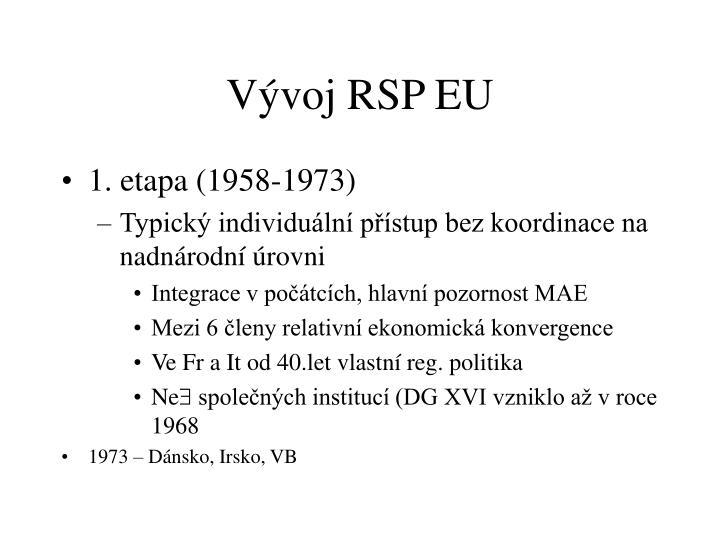 Vývoj RSP EU