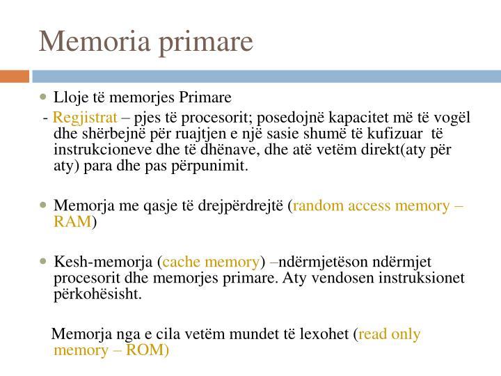 Memoria primare