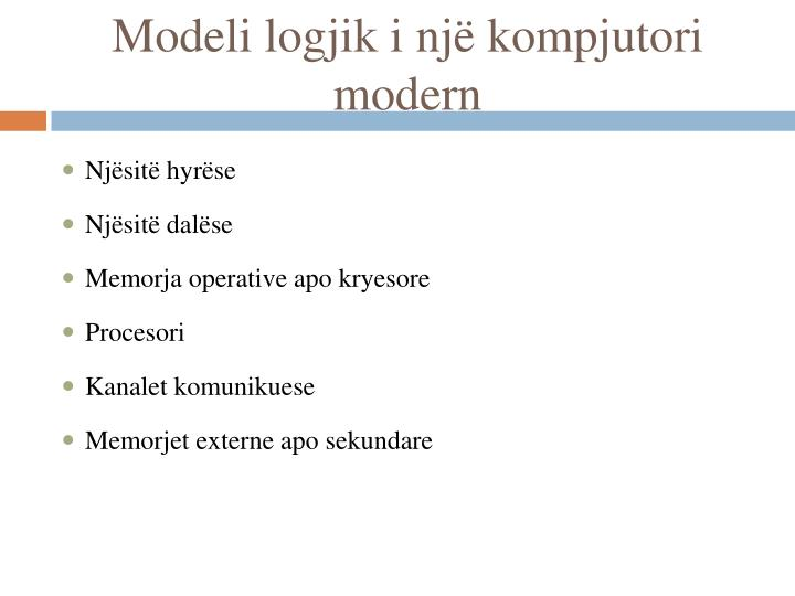 Modeli logjik i një kompjutori modern