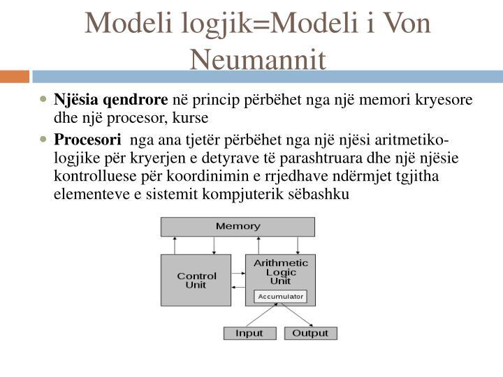 Modeli logjik=Modeli i Von Neumannit