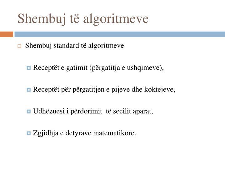 Shembuj të algoritmeve