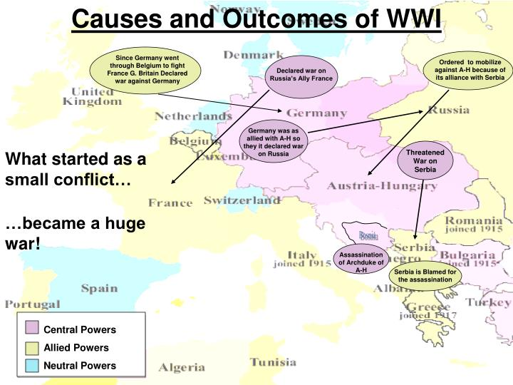 Causes and Outcomes of WWI