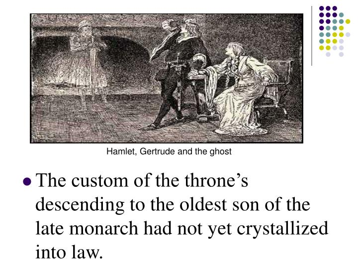 Hamlet, Gertrude and the ghost