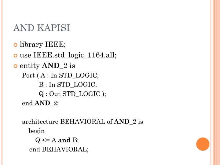AND KAPISI