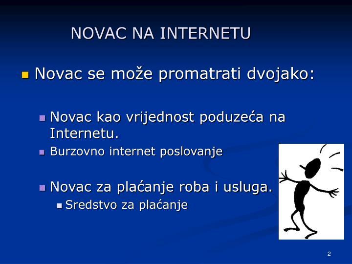 NOVAC NA INTERNETU