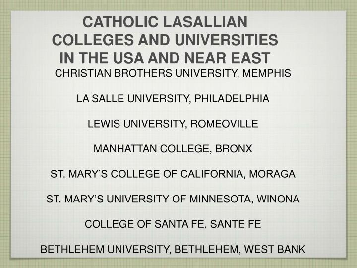 CATHOLIC LASALLIAN