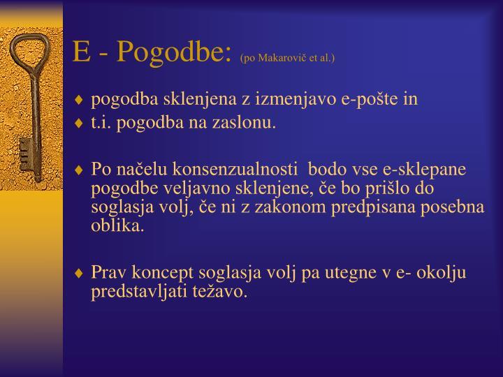 E - Pogodbe: