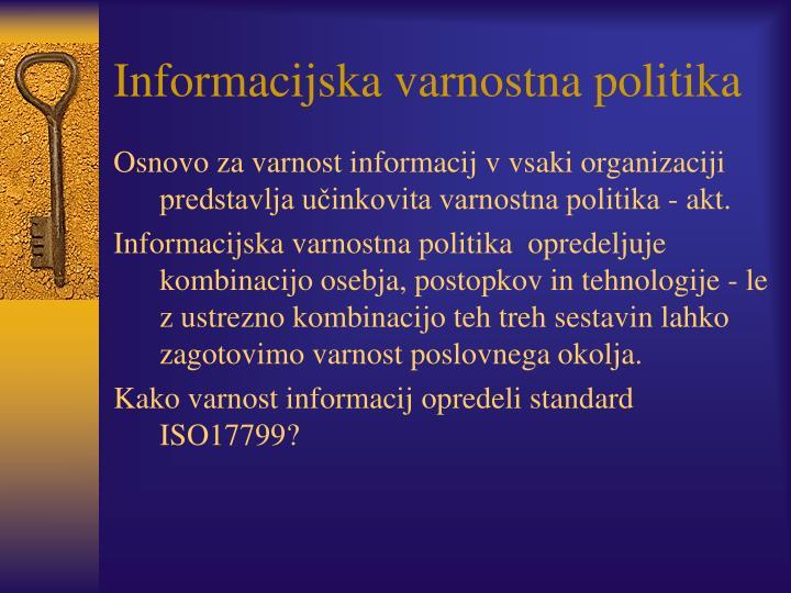Informacijska varnostna politika