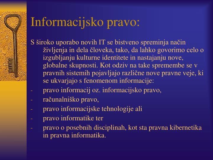 Informacijsko pravo: