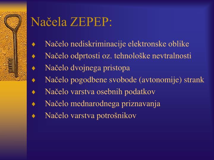 Načela ZEPEP: