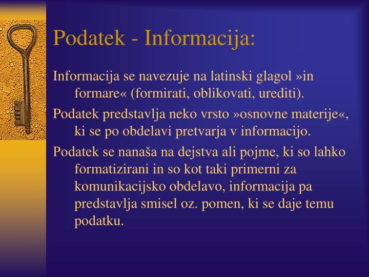 Podatek - Informacija: