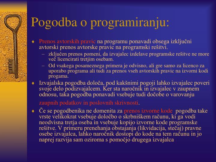 Pogodba o programiranju: