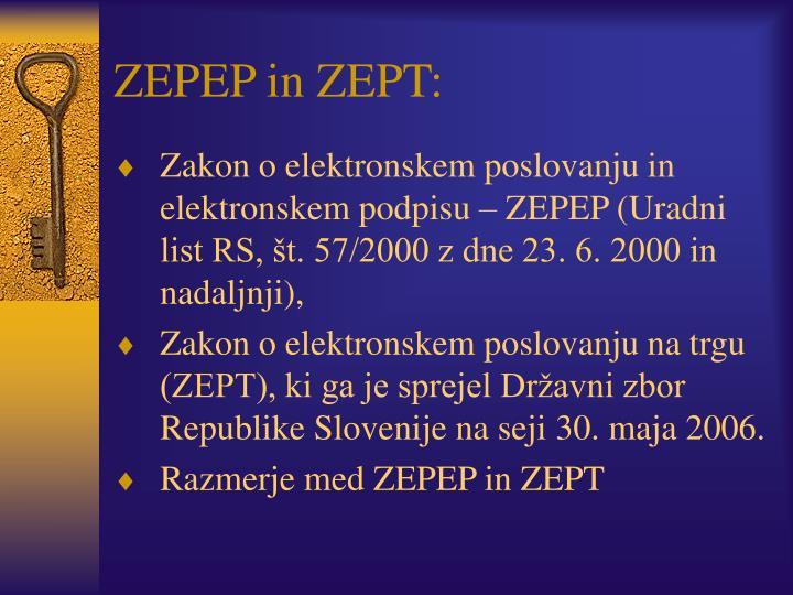 ZEPEP in ZEPT: