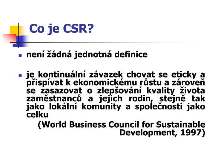 Co je CSR?