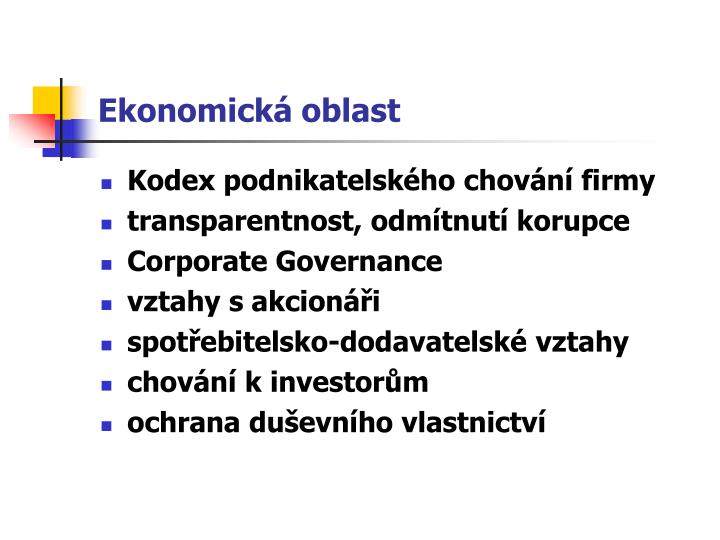 Ekonomická oblast