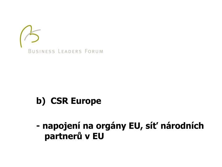 b)  CSR Europe
