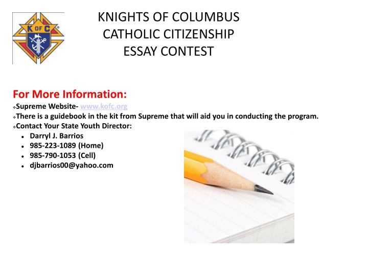 knights of columbus essays