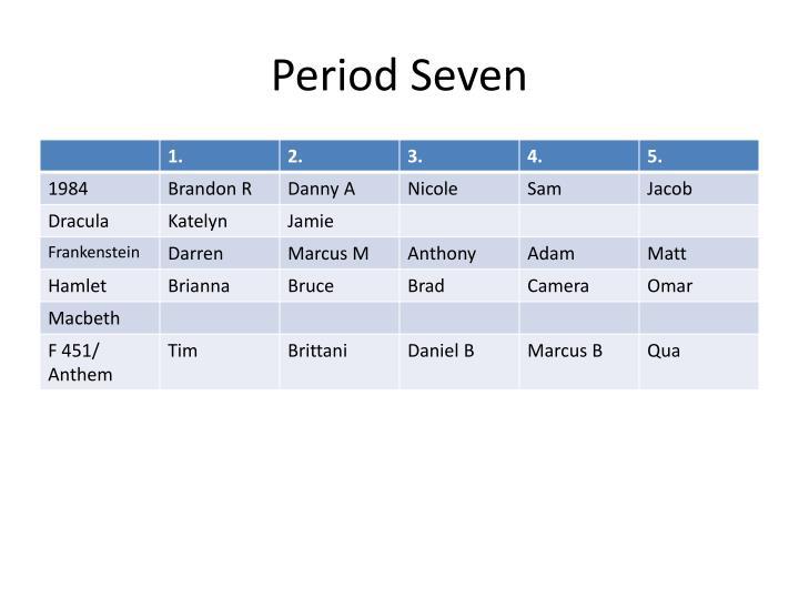 Period Seven