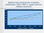 baltijos ali tarptautin s mokslin s publikacijos 1993 1999 m pagal citavimo indekso duomenis