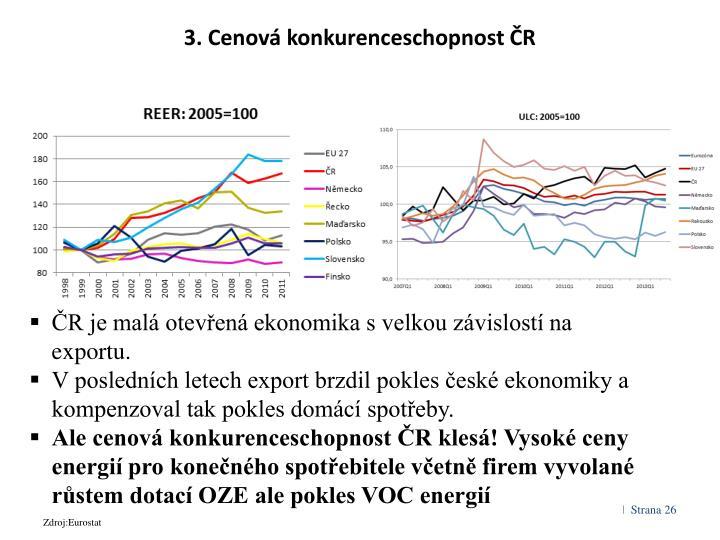 3. Cenová konkurenceschopnost ČR