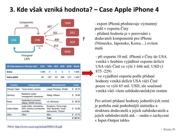 3. Kde však vzniká hodnota? – Case Apple iPhone 4