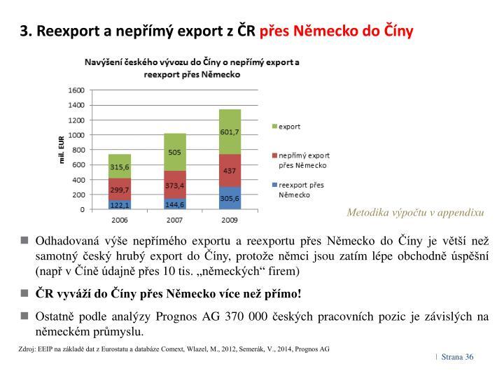 3. Reexport a nepřímý export z ČR