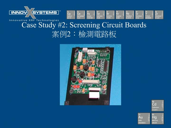 Case Study #2: Screening Circuit Boards