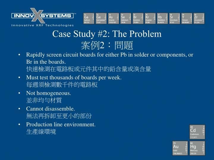 Case Study #2: The Problem