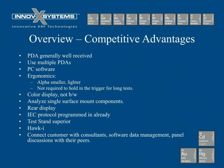 Overview – Competitive Advantages